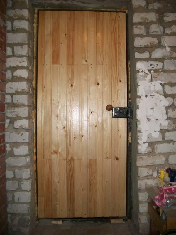 Межкомнатная дверь из вагонки своими руками 14