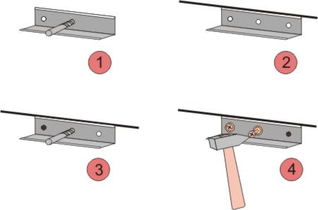 крепление уголков к стенам для подвесного потолка армстронг