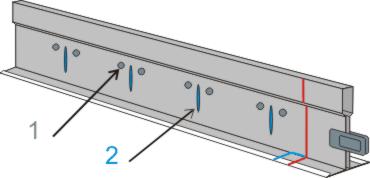отверстия в основном направляющем профиле для подвесных потолков типа Армстронг