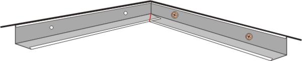 как разметить пристенные уголки для прирезки в углах помещения