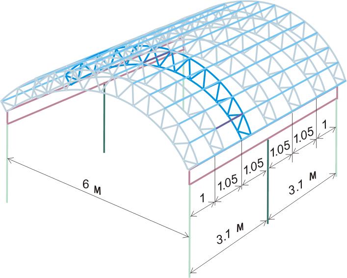 расчетная схема для арочной