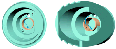 ток воды при открытом клапане, мембрана пока не показана